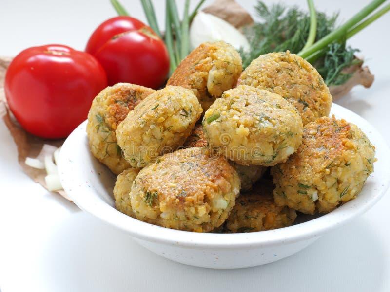 Homemade chickpea Falafel balls stock photography
