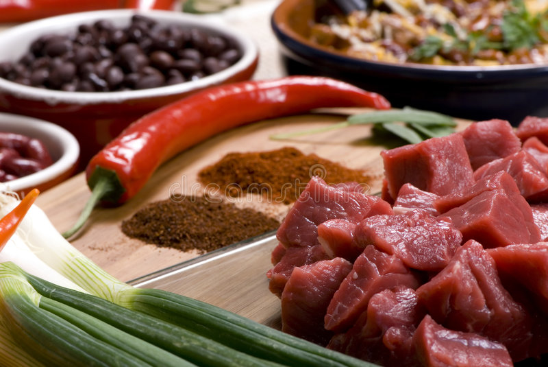 Download Homemade Chili 012 stock image. Image of onions, pork - 2068923