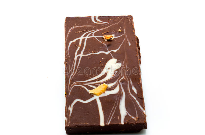 Homemade chocolate bar stock image