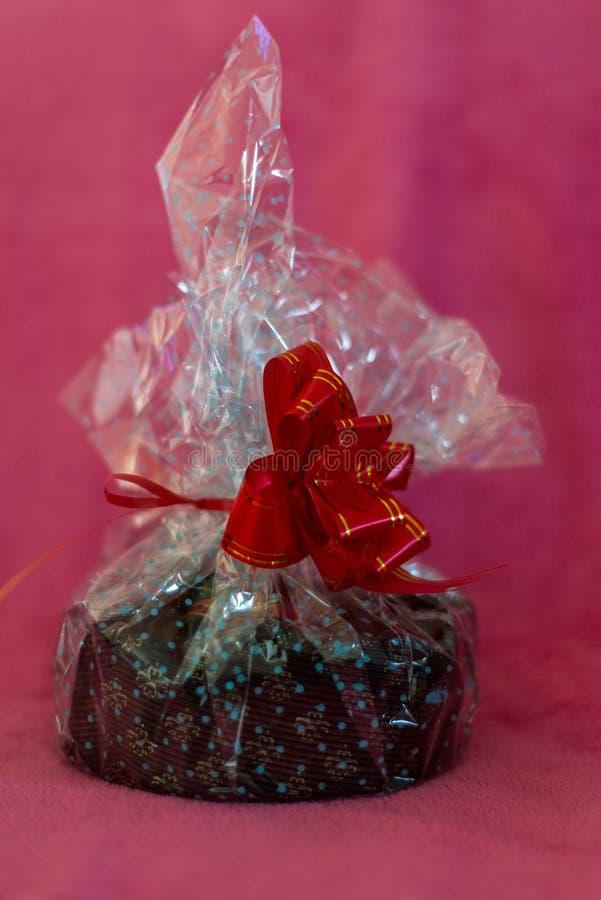 Homemade Christmas cake - Wrapped royalty free stock photo
