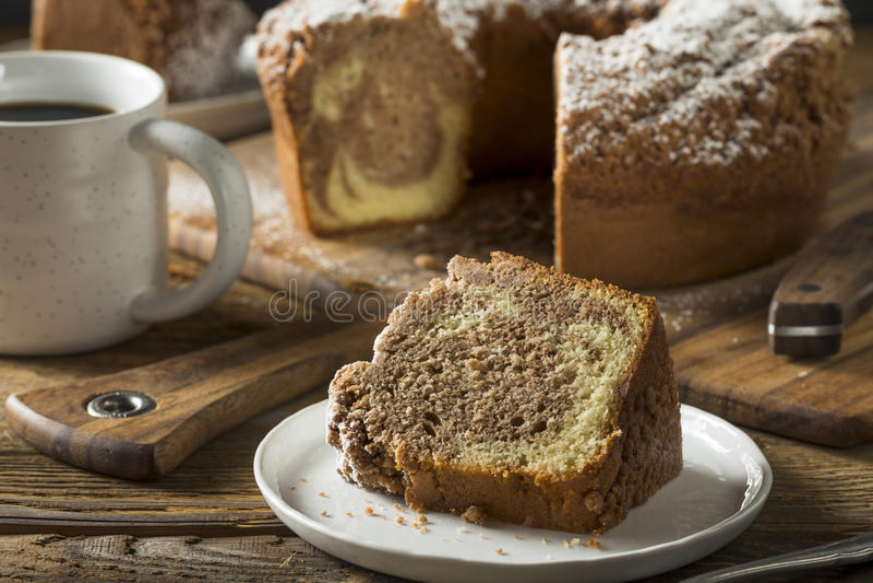 Homemade Cinnamon Coffee Cake stock images