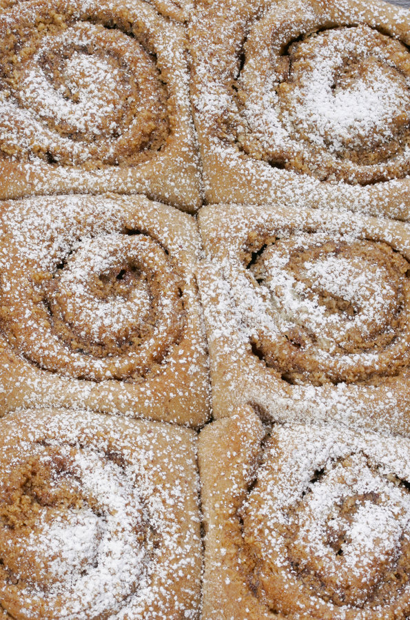 Homemade Cinnamon Rolls stock images
