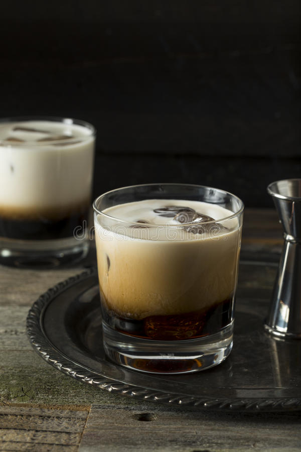 Homemade Coffee White Russian royalty free stock images