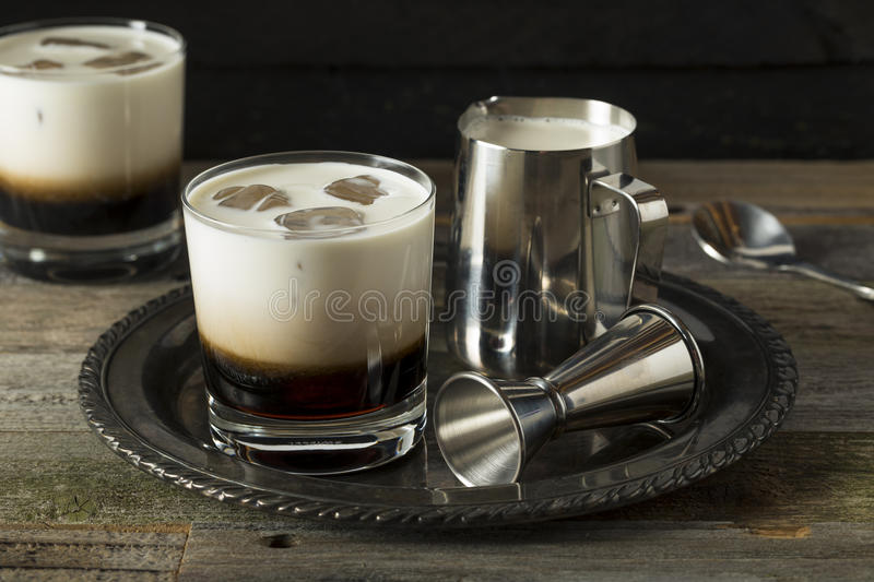 Homemade Coffee White Russian royalty free stock photos