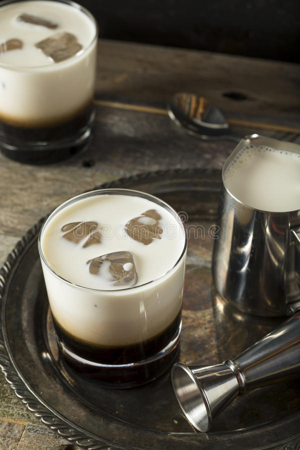 Homemade Coffee White Russian royalty free stock image