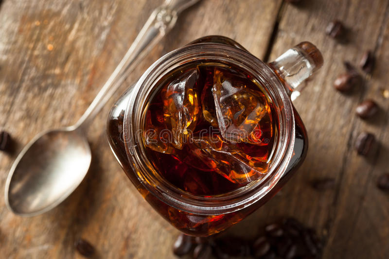 Homemade Cold Brew Coffee. To Drink for Breakfast stock image