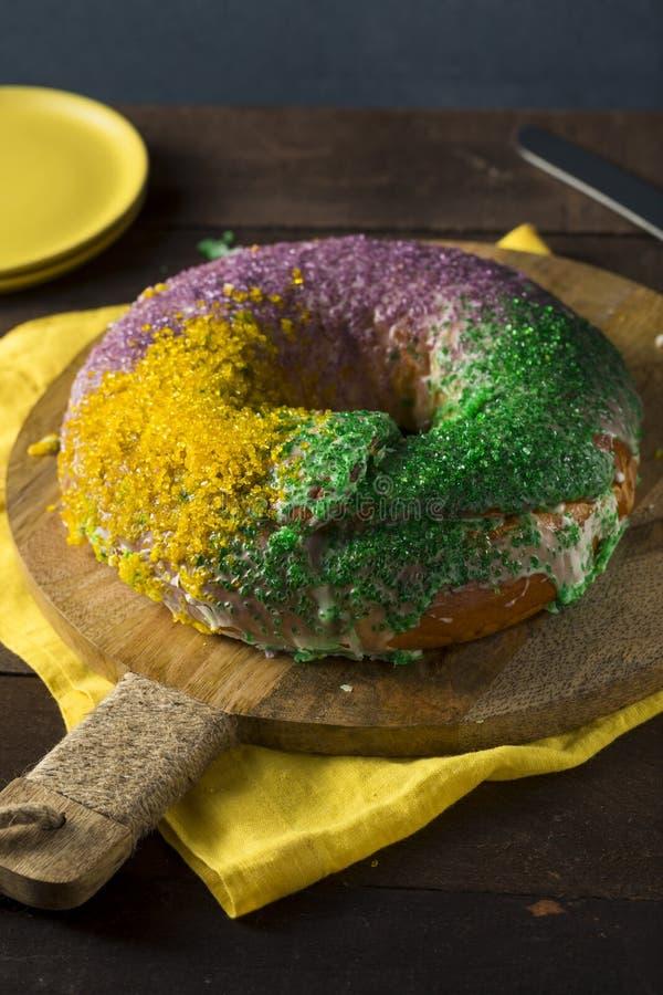 Download Homemade Colorful Mardi Gras King Cake Stock Image - Image: 88133209