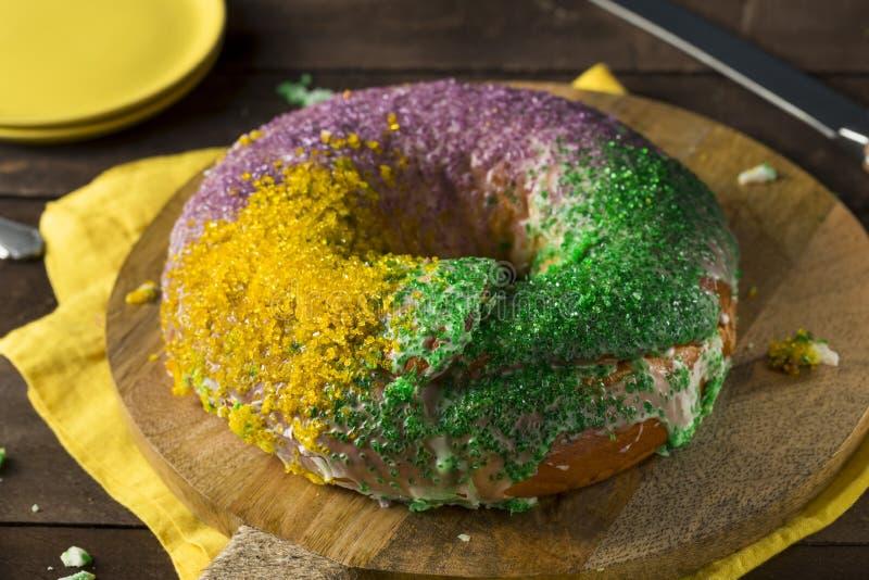 Download Homemade Colorful Mardi Gras King Cake Stock Image - Image: 88133275