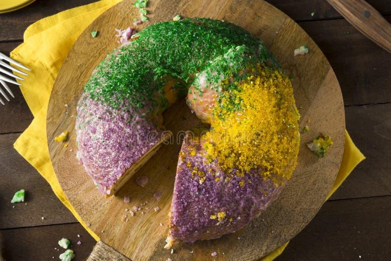 Download Homemade Colorful Mardi Gras King Cake Stock Image - Image: 88133557