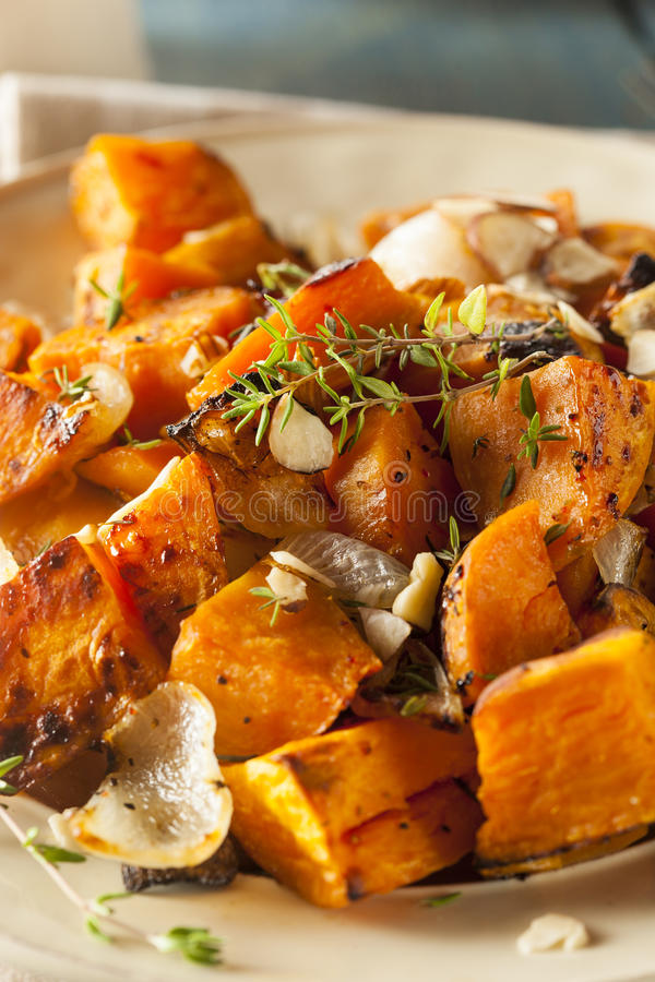 Homemade Cooked Sweet Potato royalty free stock images