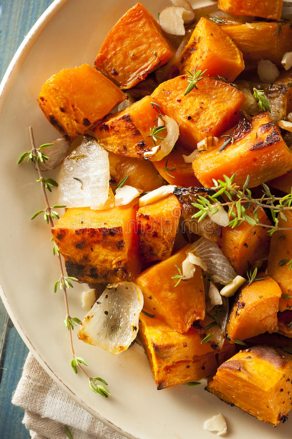 Homemade Cooked Sweet Potato stock photography
