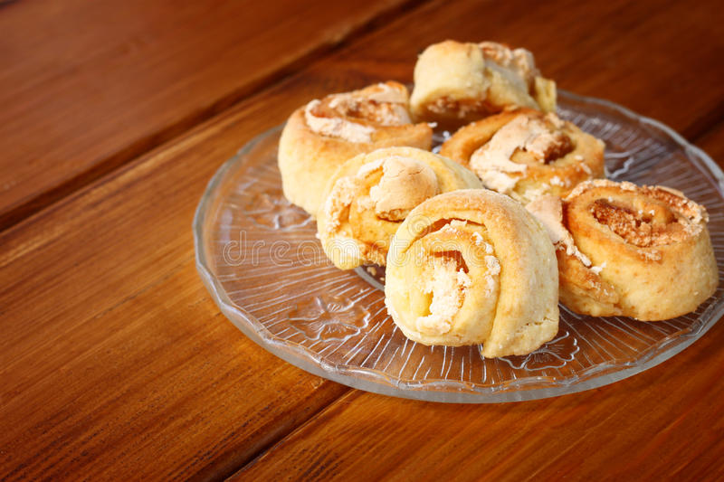 Homemade cookie roll royalty free stock photo
