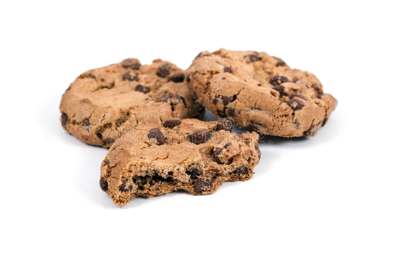 Homemade cookies with chocolate royalty free stock image