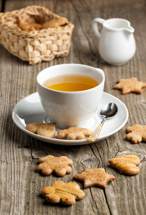 Download Homemade Cookies And Cup Of Tea Stock Image - Image: 21568751