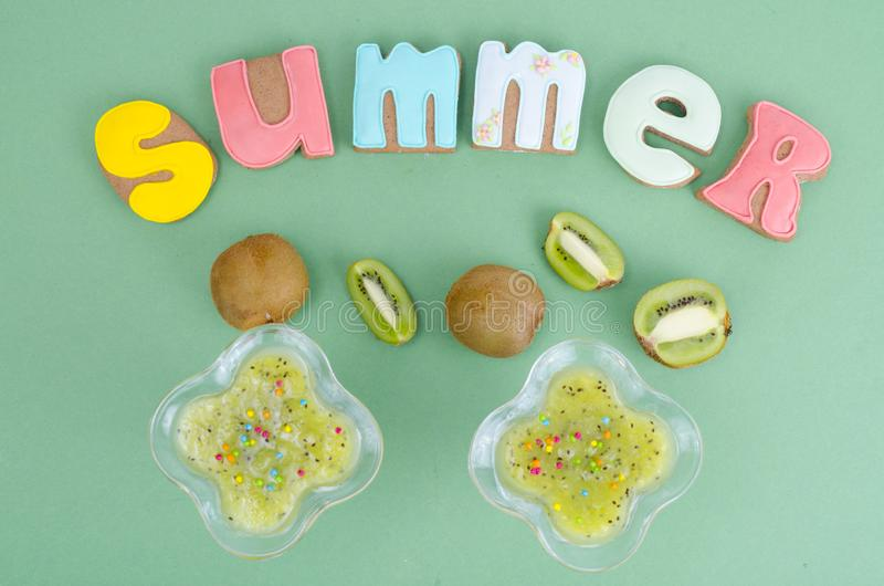 Homemade cookies, gingerbread with summer theme. Studio Photo royalty free stock photography