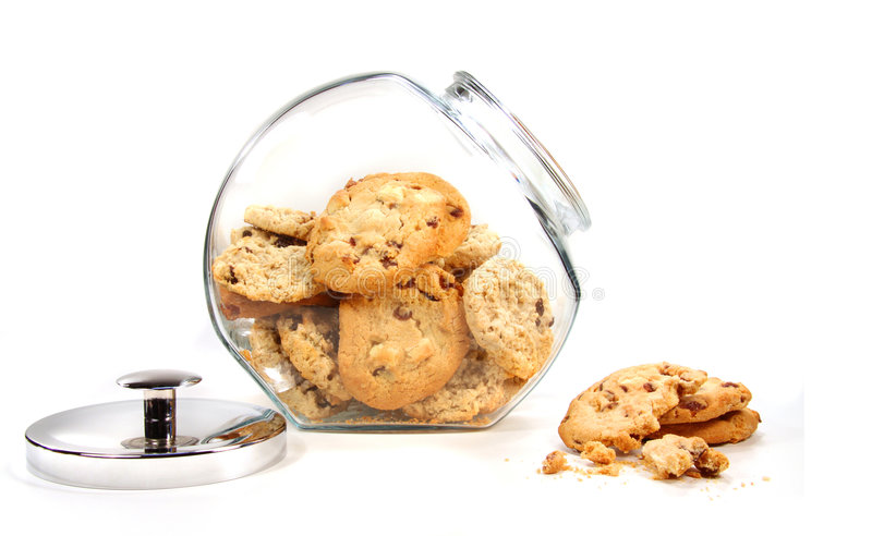 Download Homemade Cookies In Glass Jar On White Stock Image - Image: 7838763