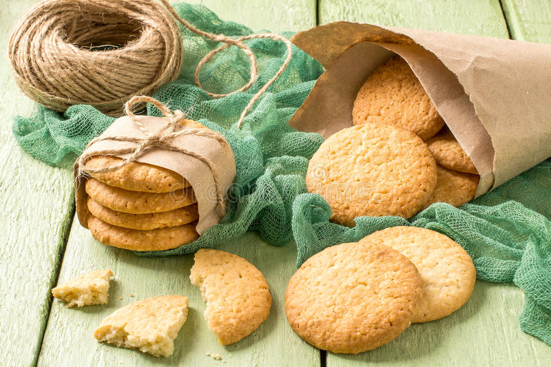 Homemade cookies with onion, sesame and spices stock photos