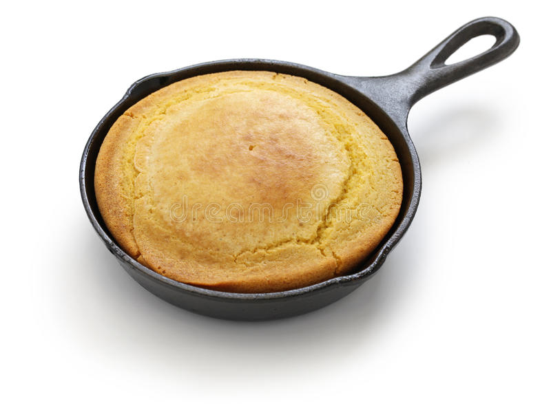 Homemade cornbread in skillet, southern cooking. Homemade cornbread in skillet, cuisine of the Southern United States royalty free stock image