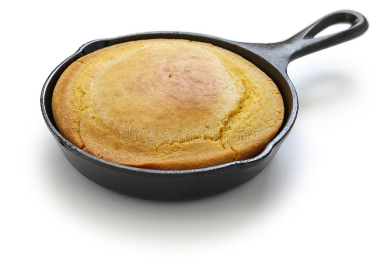 Homemade cornbread in skillet, southern cooking. Homemade cornbread in skillet, cuisine of the Southern United States royalty free stock photography