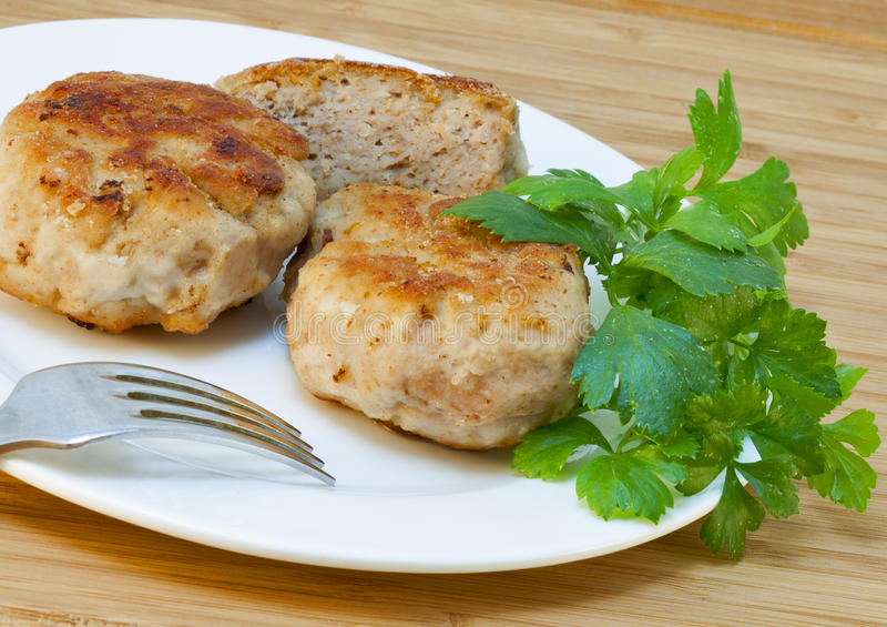 Download Homemade Cutlets And Fresh Parsley Stock Photo - Image: 29130138