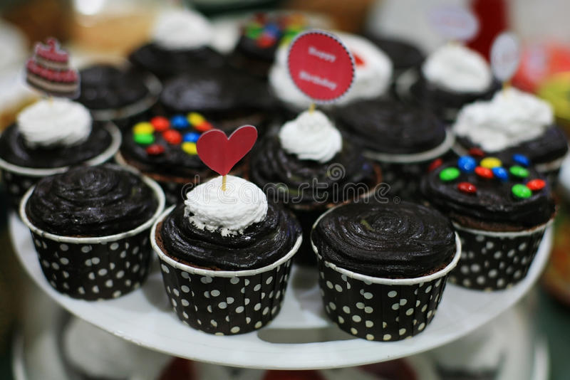 Download Chocolate Cupcake For Birthday Party Stock Image - Image of cake, baking: 99237107