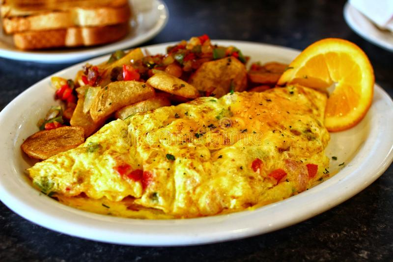 Homemade delicious omelette stock photography