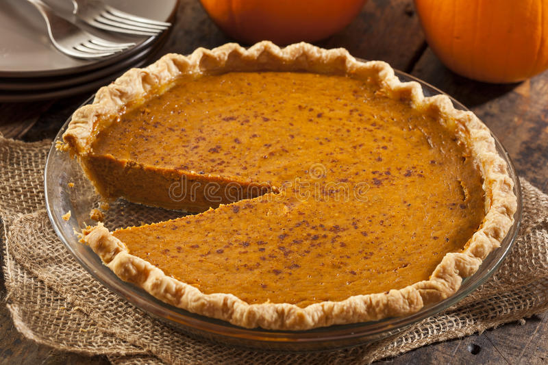 Homemade Delicious Pumpkin Pie royalty free stock photography