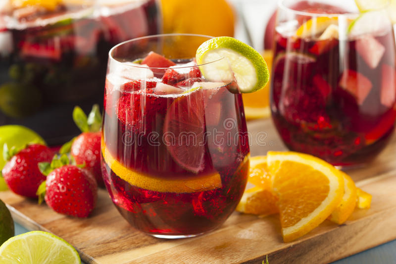 Homemade Delicious Red Sangria stock image