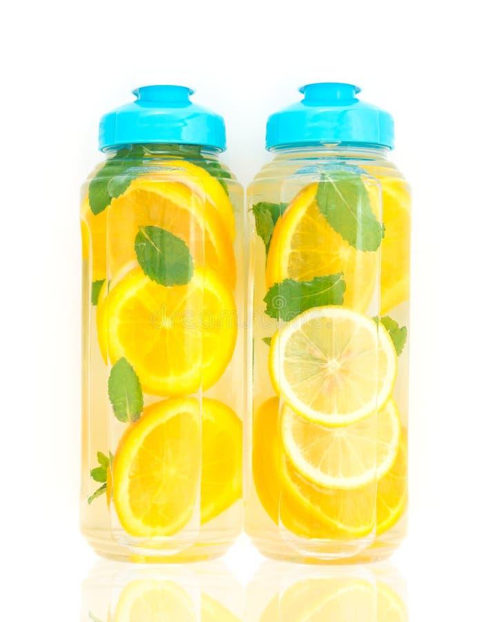 Homemade detox water stock image