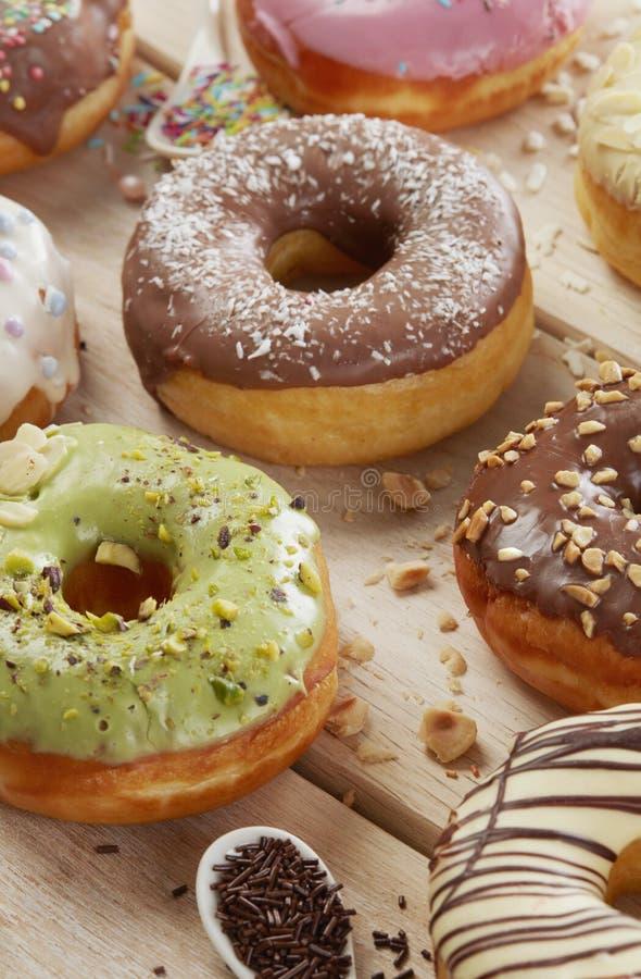 Homemade donuts closeup royalty free stock photos