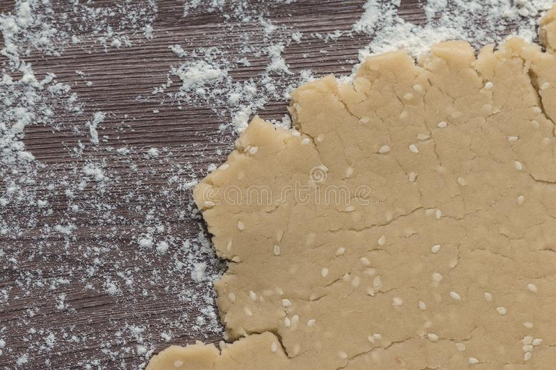 Homemade dough for cookies stock images