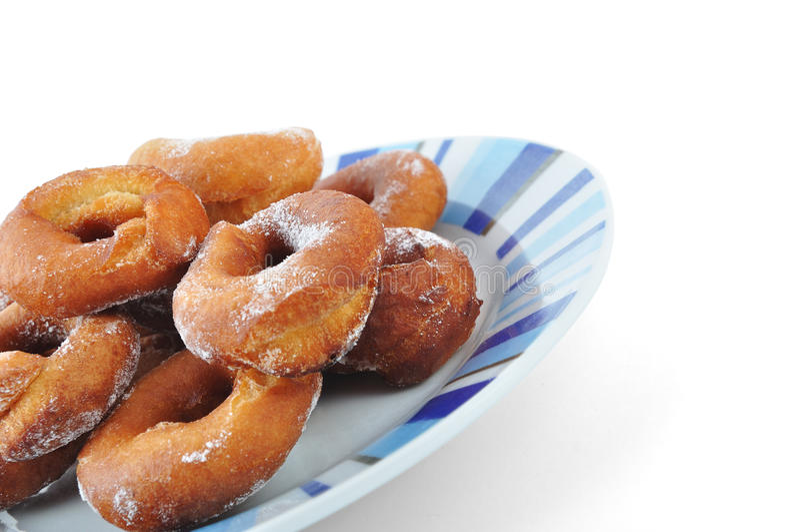 Homemade doughnuts stock image