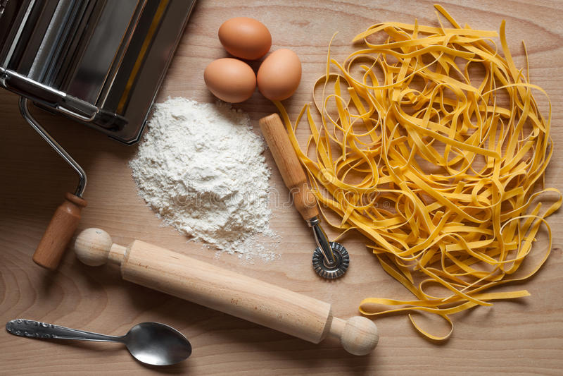 Homemade Egg Pasta Royalty Free Stock Photos