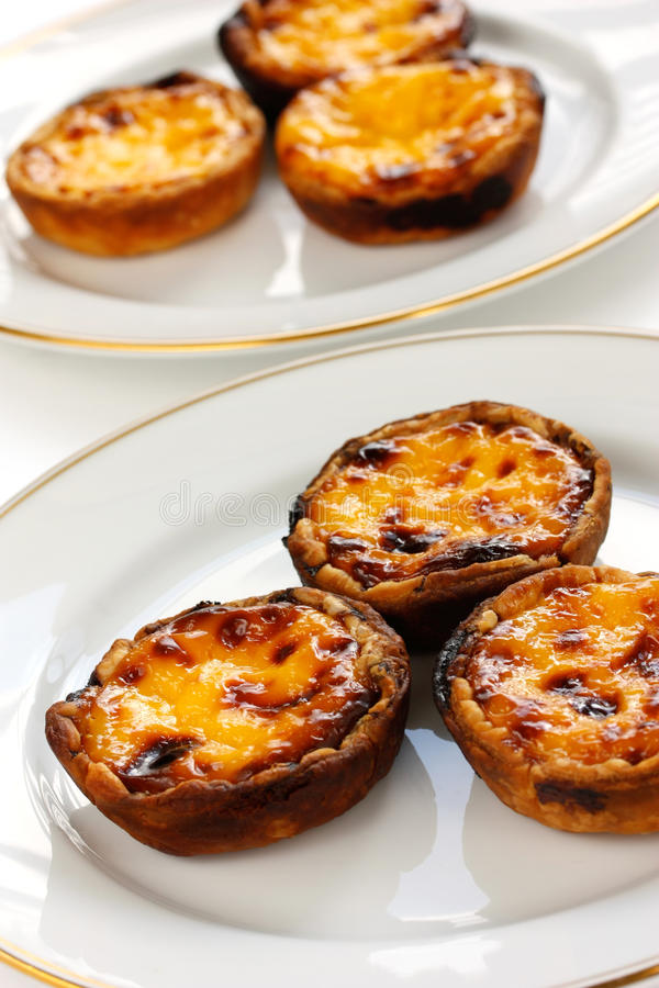 Homemade Egg Tart Stock Photography