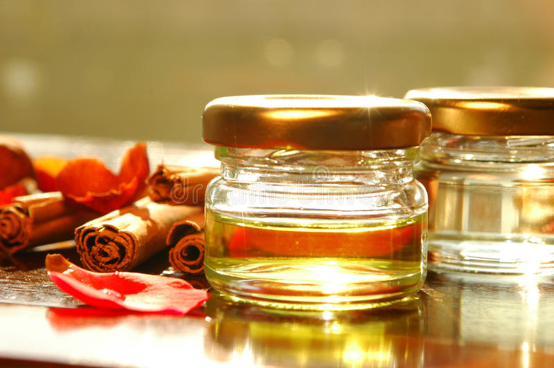 Homemade essential oils stock images