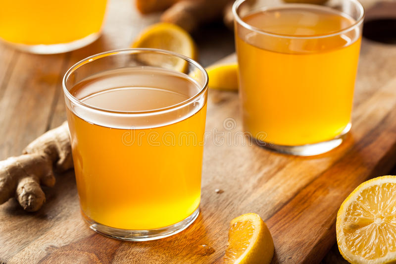 Homemade Fermented Raw Kombucha Tea. Ready to Drink stock photography
