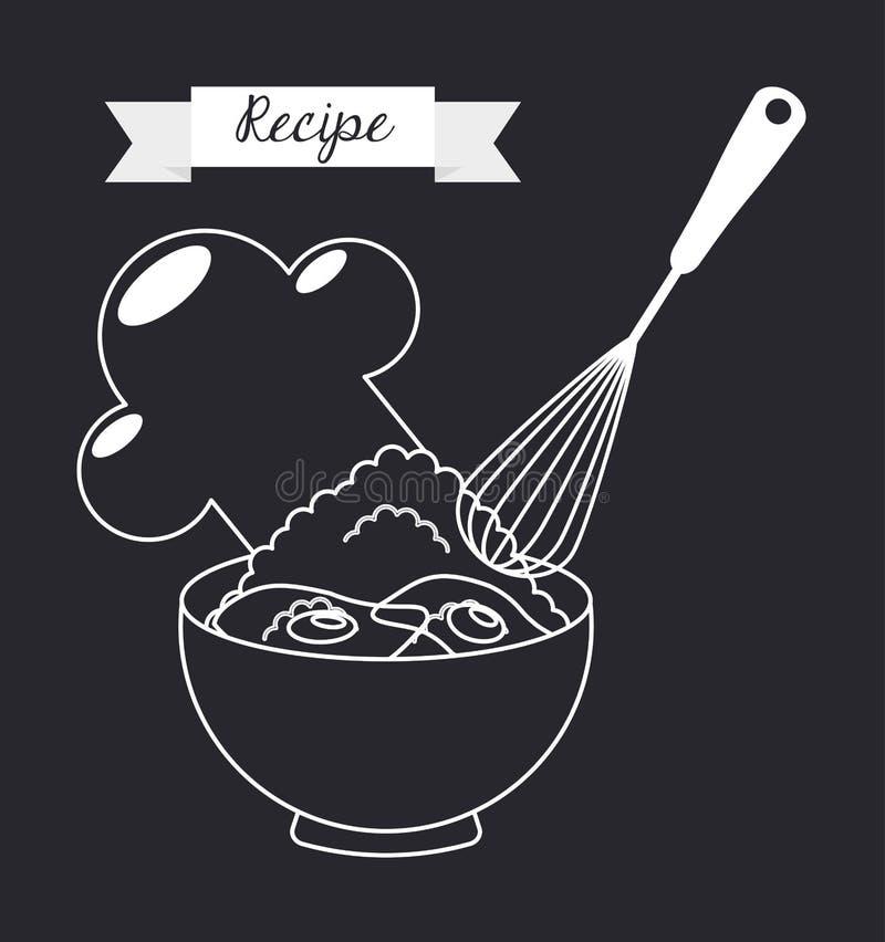 Homemade food stock illustration