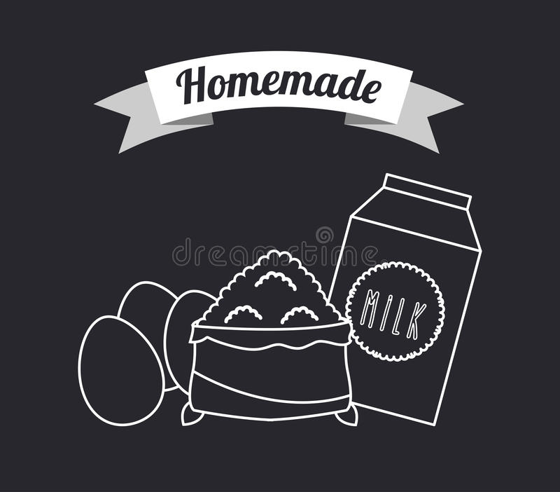 Homemade food stock illustration