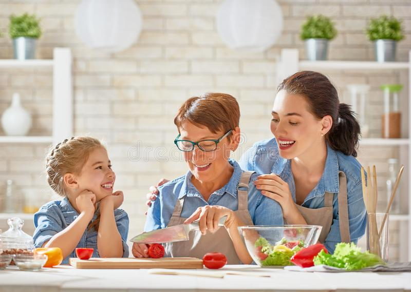 Homemade food and little helper royalty free stock photo