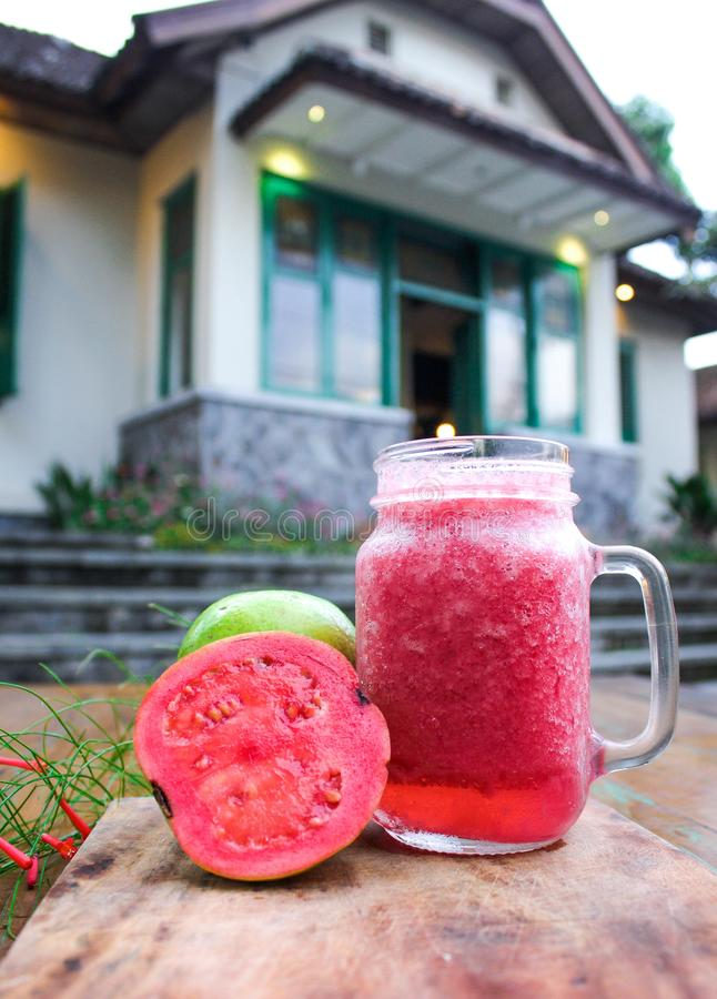 Homemade fresh guava juice royalty free stock photo