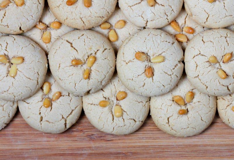 Homemade fresh tahini cookies stock photography
