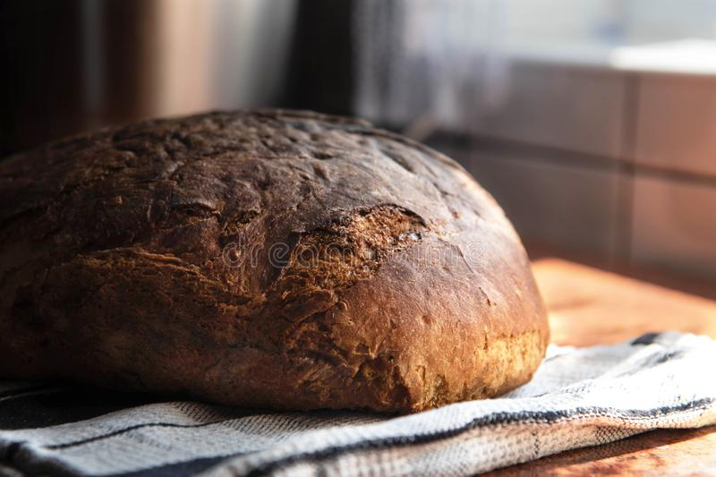 Homemade Freshly baked traditional bread. Gourmet conception royalty free stock photos