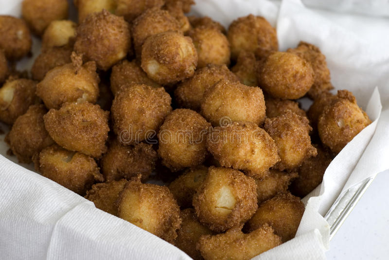 Homemade Fried Hushpuppies royalty free stock image