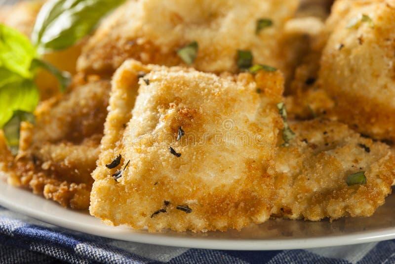 Homemade Fried Ravioli with Marinara Sauce royalty free stock images