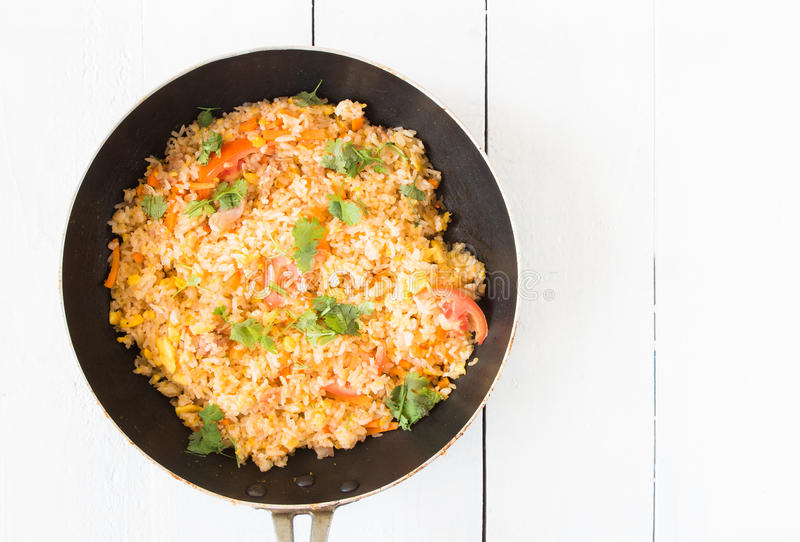 homemade fried rice royalty free stock images