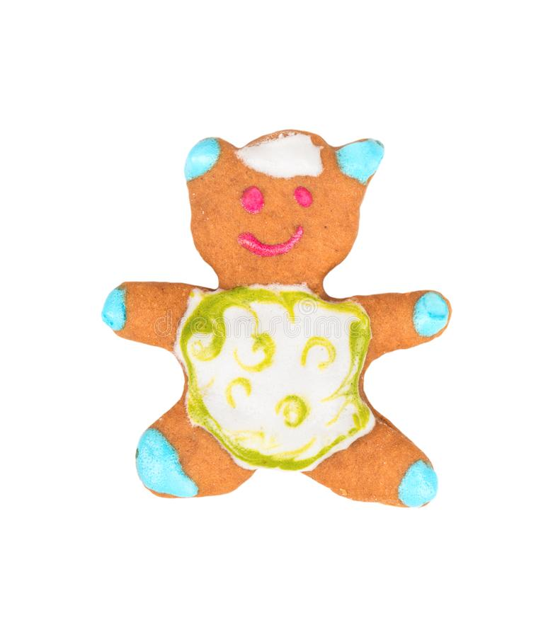 Christmas gingerbread bear royalty free stock images