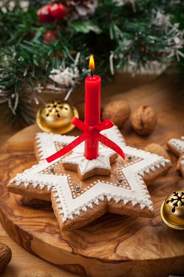 Download Homemade Gingerbread Candle For Christmas Stock Image - Image: 27368955