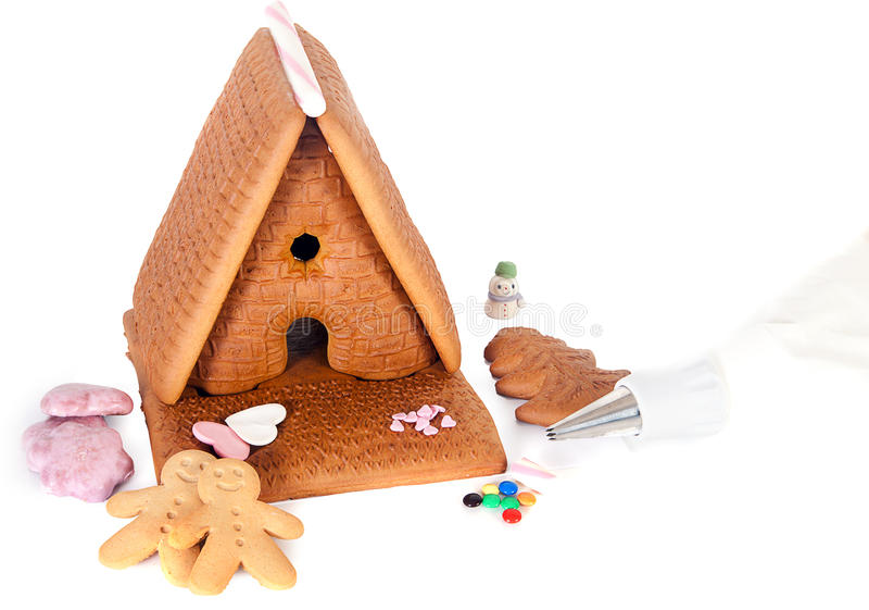 Download Homemade gingerbread house stock photo. Image of baked - 27184762