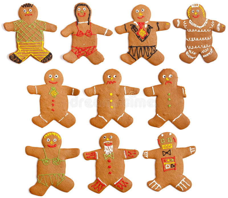 Homemade Gingerbread People royalty free stock photography