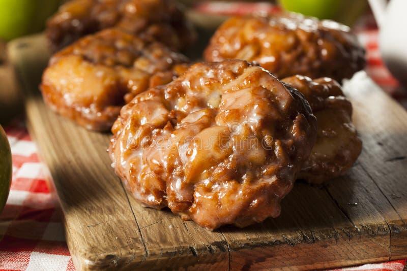 Homemade Glazed Apple Fritters stock image